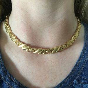 "NEW Solid 14k HEAVY 30 Gram Choker Necklace 17"""